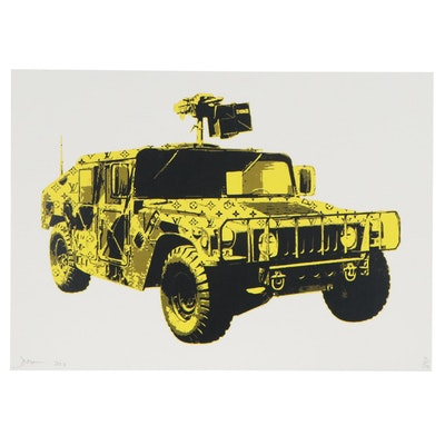 Death NYC Pop Art Graphic Print of Military Utility Vehicle, 21st Century