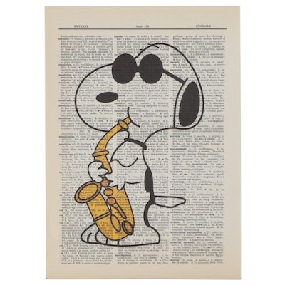 Pop Art Giclée of Snoopy with Sax, 21st Century
