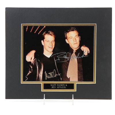 Matt Damon and Ben Affleck Signed Oscars After Party Photo Print, 1999