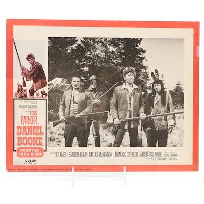 "Fess Parker Signed ""Daniel Boone"" Western TV Sitcom Lobby Card, SGC COA"