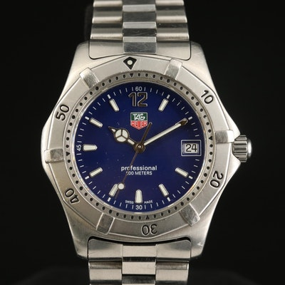 TAG Heuer 2000 Classic Stainless Steel Quartz Wristwatch