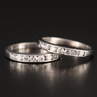 Matching 14K Diamond Channel Bands