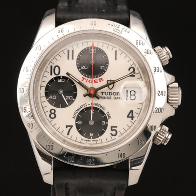 """1997 Tudor """"Tiger"""" Stainless Steel Chronograph Wristwatch with Date Window"""