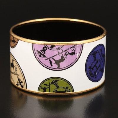 Hermès Enamel Horse Bangle