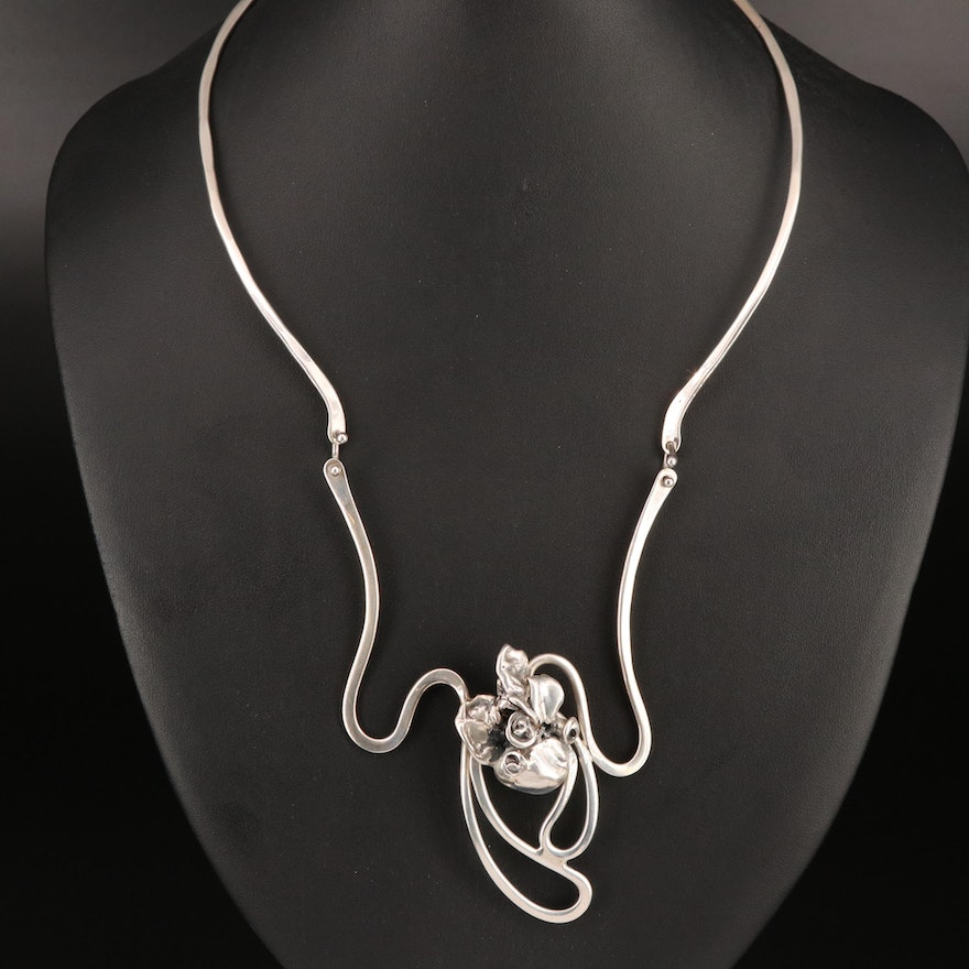Nancy Aires Sterling Silver Necklace