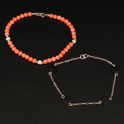 14K Coral Bracelets