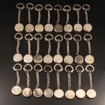 Coca-Cola Mexican Sterling Silver Bottle Cap Keychains