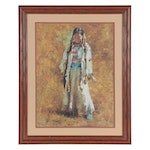 """Howard Terpning Offset Lithgraph """"Sunday Best,"""" Late 20th Century"""