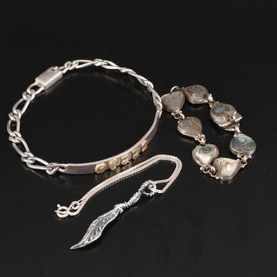 Sterling Bracelets Featuring Abalone Heart Bracelet
