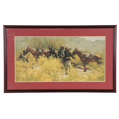 "Howard Terpning Offset Lithograph ""Search for the Pass,"" Late 20th Century"