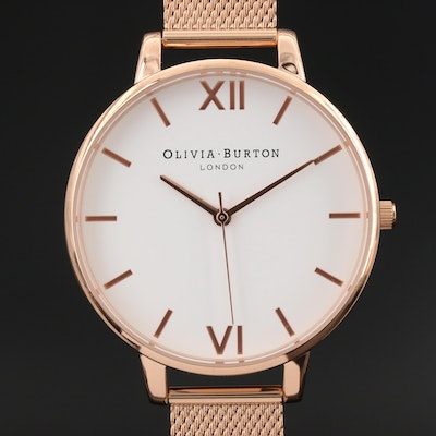 Olivia Burton Big Dial Stainless Steel Quartz Wristwatch