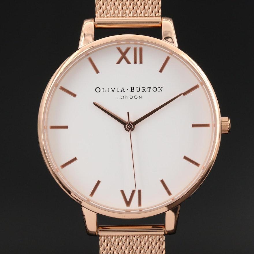 Olivia Burton Big Dial Stainless Steel Quartz Wristwatch