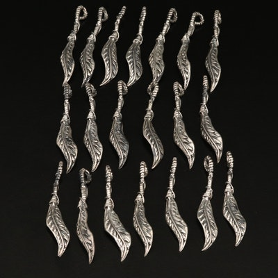 Sterling Silver Feather Pendant Selection
