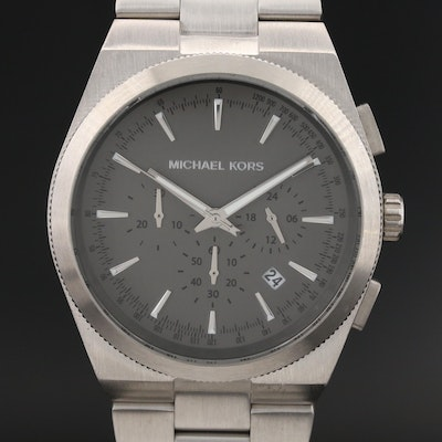 "Michael Kors ""Channing"" Stainless Steel Chronograph Quartz Wristwatch"