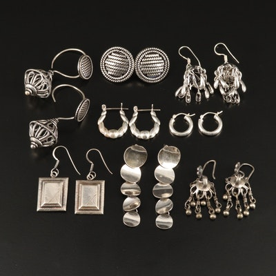 Sterling Earrings Featuring 800 Silver Openwork Drop Earrings