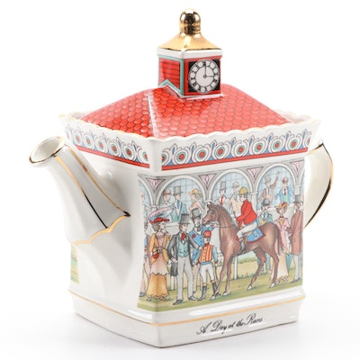 "Sadler ""A Day at the Races"" English Ceramic Teapot, Late 20th Century"