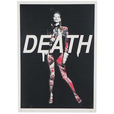 Death NYC Pop Art Offset Print of Kate Moss, 2017