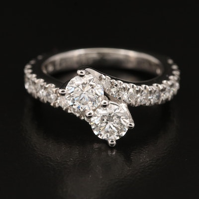 """Ever Us"" 14K 1.88 CTW Diamond Bypass Ring"