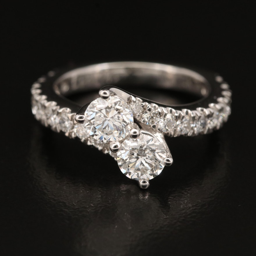 """Ever Us"" 14K 1.88 CTW Diamond Bypass Ring"