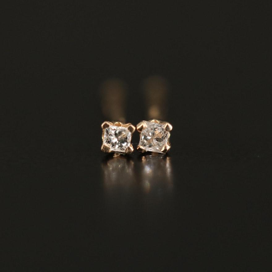 14K 0.04 CTW Diamond Stud Earrings