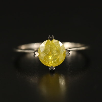14K 1.18 CT Diamond Solitaire Ring