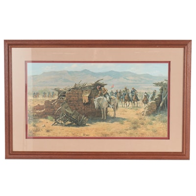 "Howard Terpning Offset Lithograph ""The Search for the Renegades"""