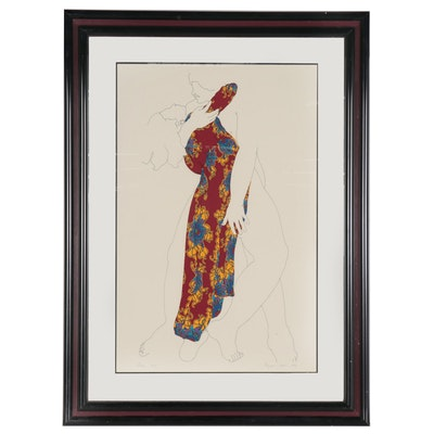 """Weyman Lew Color Lithograph """"Swoon,"""" 1976"""