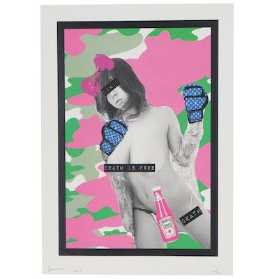 Death NYC Pop Art Figural Graphic Print, 2017