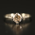 14K 0.65 CT Diamond Solitaire Ring