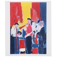 """Offset Lithograph after Nicolas de Stael """"Les Musiciens"""""""