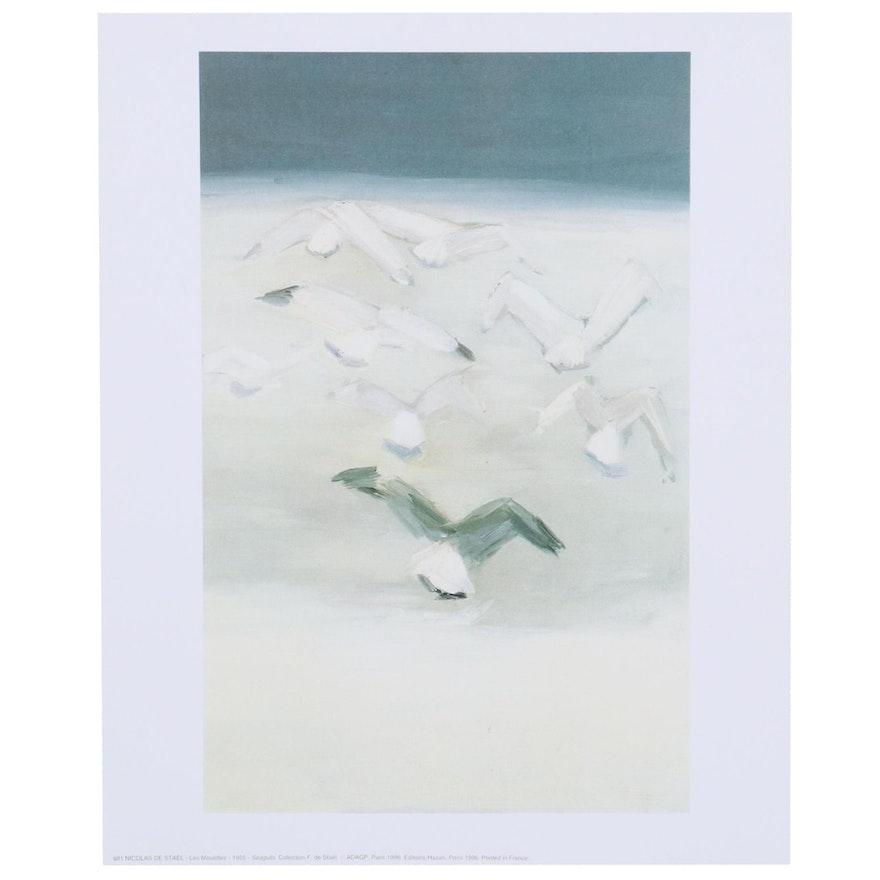 "Offset Lithograph after Nicolas De Stael ""Seagulls"""