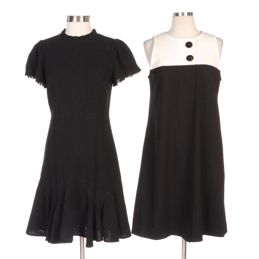 Sara Campbell Button Detail Dress and Rebecca Taylor Flounce Hem Dress
