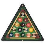 Billiards Triangle Wall Clock, circa 2000
