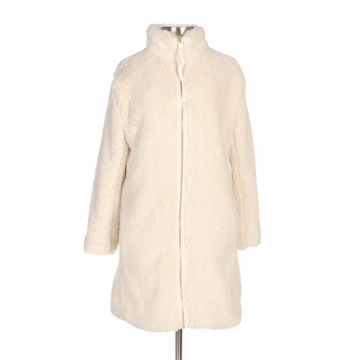 Gap Ivory Faux Fur Sherpa Zip-Up Coat
