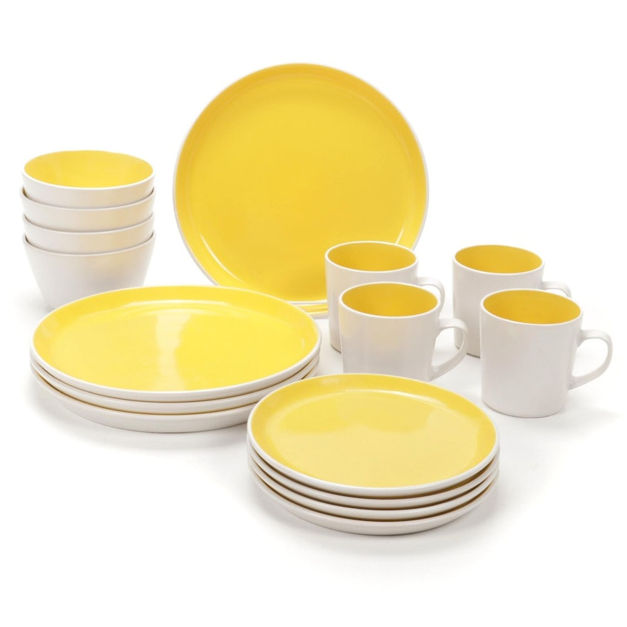 "Oneida ""Lemon Drop"" Color Burst Stoneware Dinnerware,  2010–2017"