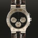 """BVLGARI """"Diagono"""" Stainless Steel Chronograph Meca-Quartz Wristwatch"""