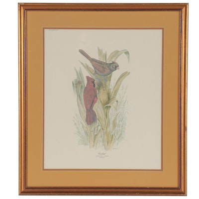 "Offset Lithograph after E.D. Williams ""Cardinals,"" Late 20th Century"