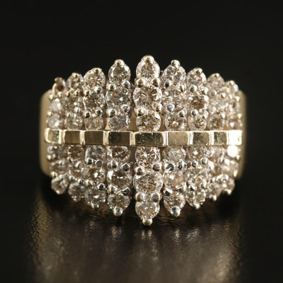 10K 2.25 CTW Diamond Step Ring