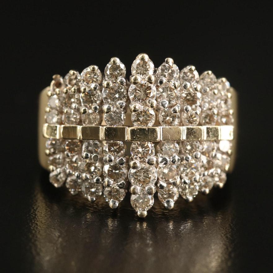 10K 2.25 CTW Diamond Step Ring