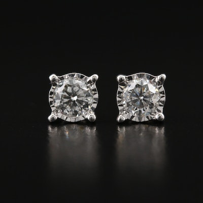 14K 0.61 CTW Diamond Stud Earrings