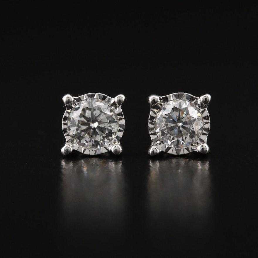 14K 0.61 CTW Diamond Stud Earrings