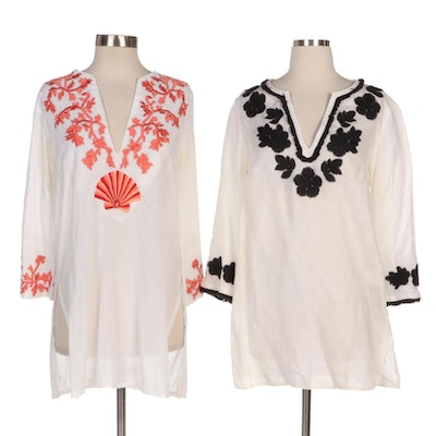 Tory Burch and Barbara Gerwit Embroidered Tunics