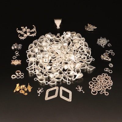 Findings Including Sterling, Pearl, Jump Rings and Bails