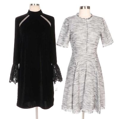 Rebecca Taylor Bouclé Tweed and Shoshanna Velvet Oliver Dress