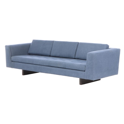 Mid Century Modern Style Sofa with Floating Base in the Style of Edward Wormley