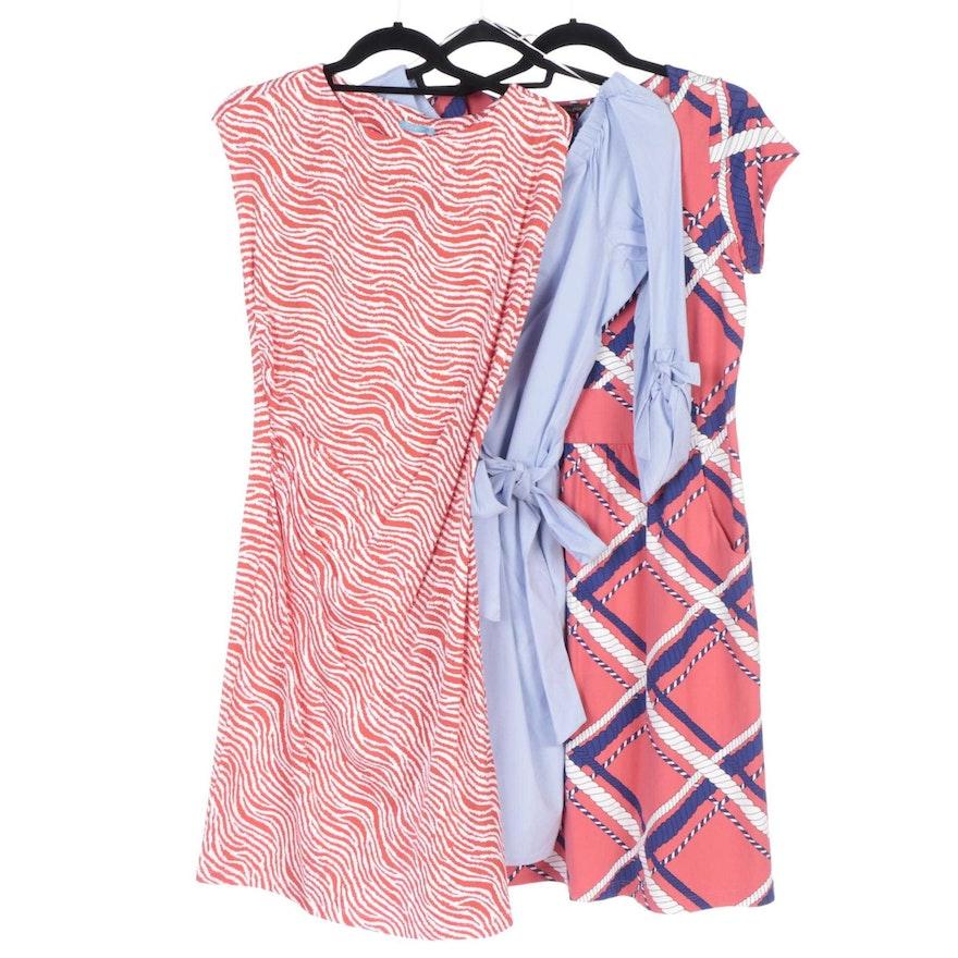 J. McLaughlin Emma and Kasia Cap Sleeve and Tiegan Off-the-Shoulder Dresses