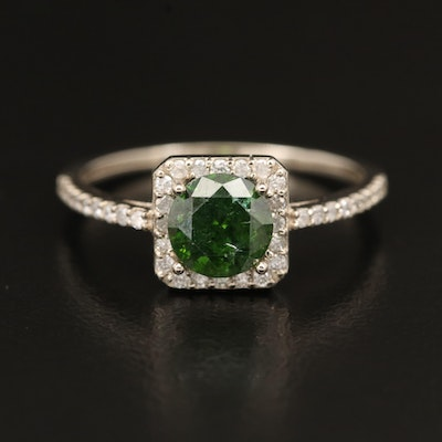 14K 1.28 CTW Diamond Halo Ring