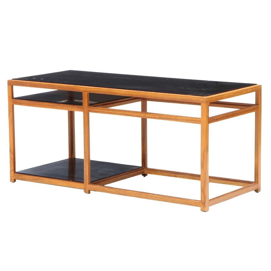 Edward Wormley for Dunbar Mid Century Modern Oak and Laminate Console Table
