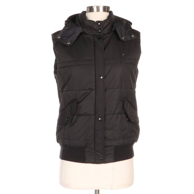 Lacoste Devanlay Black Quilted Puffer Vest