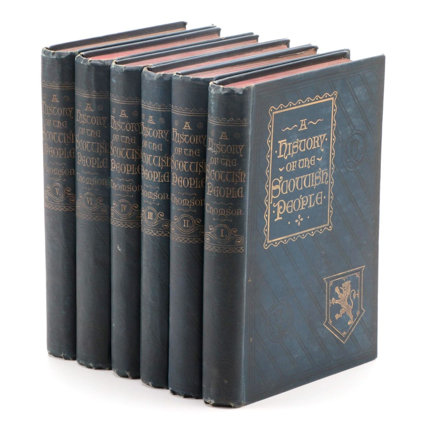 """""""A History of the Scottish People"""" Six-Volume Set by Thomas Thomson, 1896"""